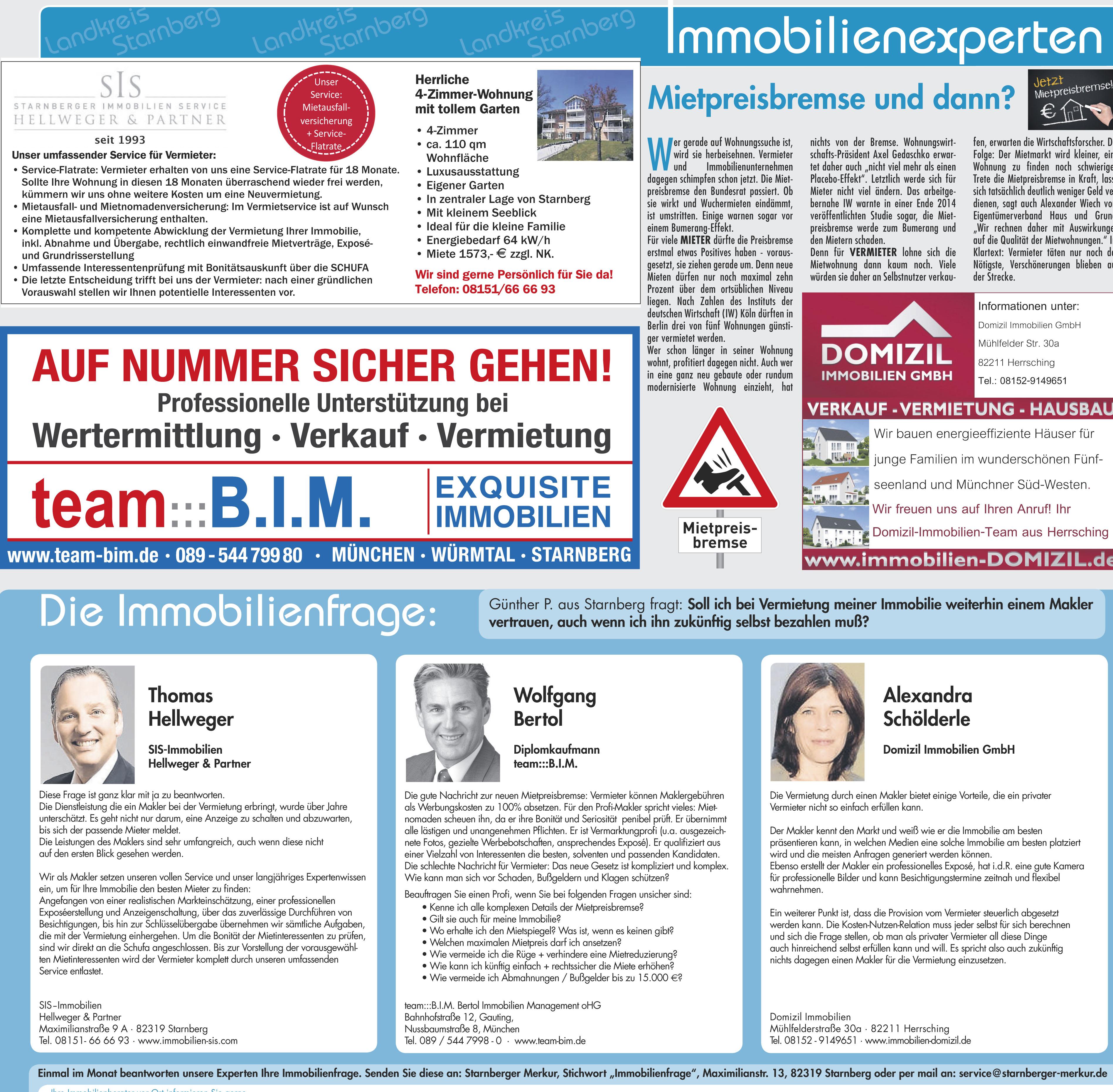 In Der Presse B I M Bertol Immobilien